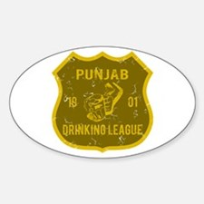 Punjab Drinking League Oval Decal