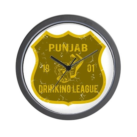 Punjab Drinking League Wall Clock