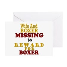 Wife & Boxer Missing Greeting Cards (Pk of 10)