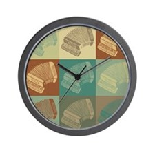 Accordion Pop Art Wall Clock