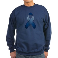 Dark Blue Awareness Ribbon Sweatshirt
