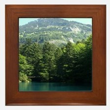 Mountains and Lakes Framed Tile