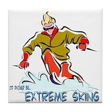 Extreme Skiing Tile Coaster