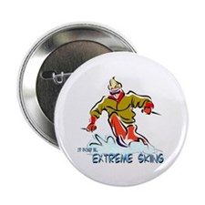 "Extreme Skiing 2.25"" Button"
