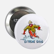 "Extreme Skiing 2.25"" Button"