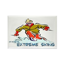 Extreme Skiing Rectangle Magnet