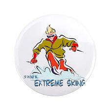"Extreme Skiing 3.5"" Button"