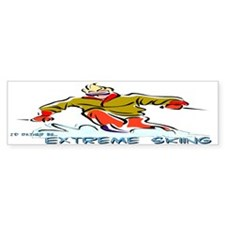 Extreme Skiing Bumper Bumper Sticker