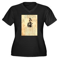 Andy Cooper Women's Plus Size V-Neck Dark T-Shirt
