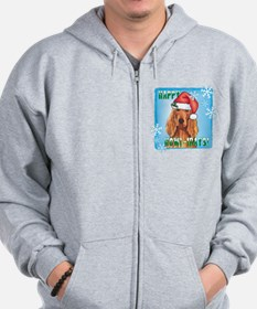 Holiday Irish Setter Zip Hoodie