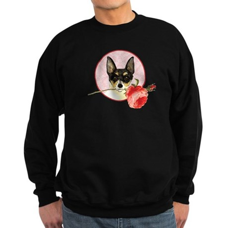 Toy Fox Terrier Rose Sweatshirt (dark)