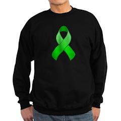 Green Awareness Ribbon Sweatshirt (dark)