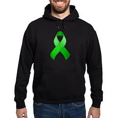 Green Awareness Ribbon Hoodie (dark)
