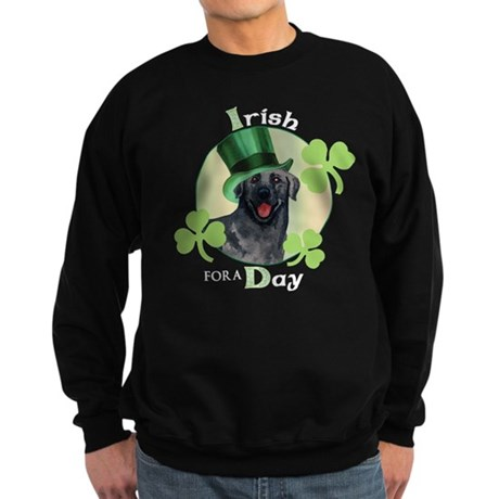 St. Patrick Black Lab Sweatshirt (dark)