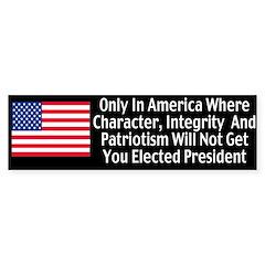 Character & Integrity Bumper Bumper Sticker