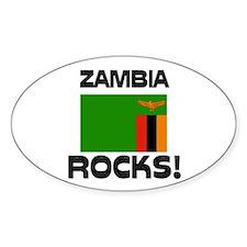 Zambia Rocks! Oval Decal