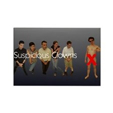 Suspicious Clowns X Rectangle Magnet