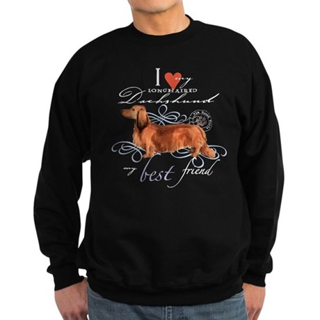 Longhaired Dachshund Sweatshirt (dark)
