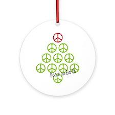 Cute Christmas hippie Ornament (Round)