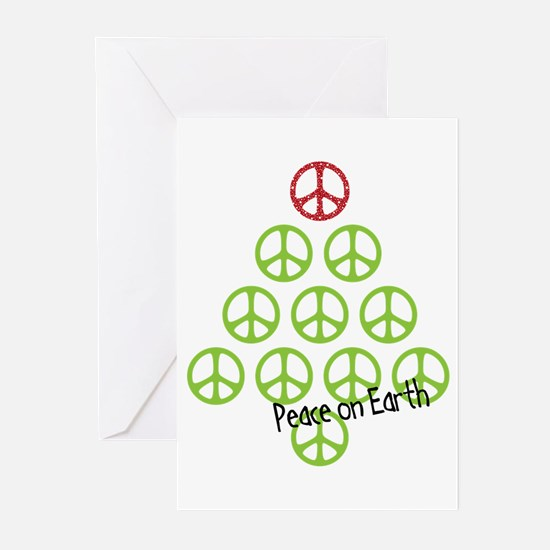Peace sign christmas Greeting Cards (Pk of 20)