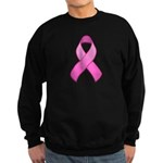 Hot Pink Awareness Ribbon Sweatshirt (dark)