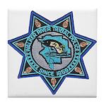 Walker River Tribal Police Tile Coaster