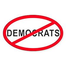 Anti-Democrats Oval Decal