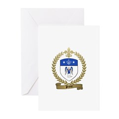 PRIEUR Family Crest Greeting Cards (Pk of 10)