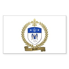 PRIEUR Family Crest Rectangle Sticker