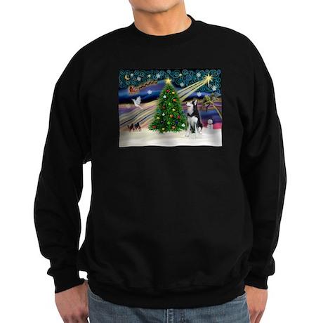 XmasMagic/Siberian Husky Sweatshirt (dark)