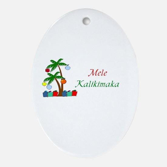 Mele Kalikimaka Oval Ornament