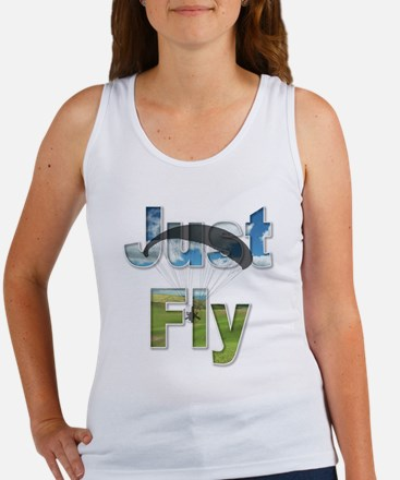 Just Fly Powered Paragliding Women's Tank Top