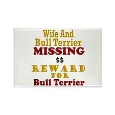 Wife & Bull Terrier Missing Rectangle Magnet