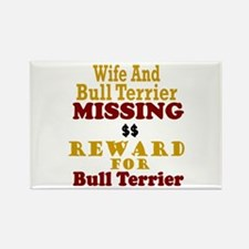 Wife & Bull Terrier Missing Rectangle Magnet