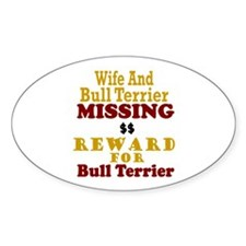 Wife & Bull Terrier Missing Oval Decal