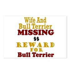 Wife & Bull Terrier Missing Postcards (Package of