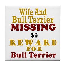 Wife & Bull Terrier Missing Tile Coaster