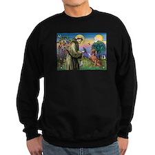 St. Francis & Weimaraner Sweatshirt