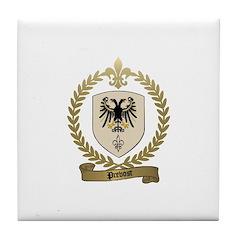 PREVOST Family Crest Tile Coaster