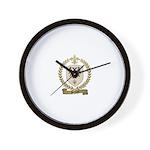 PREVOST Family Crest Wall Clock