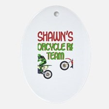 Shawn's Motorcycle Racing Oval Ornament