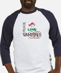 oddFrogg Twilight Peace Love Vampires Jersey