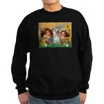 Angels with Yorkie Sweatshirt (dark)