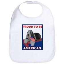 Beardie and US Flag Bib