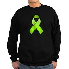 Lime Awareness Ribbon Sweatshirt (dark)