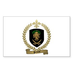 PREJEAN Family Crest Rectangle Decal