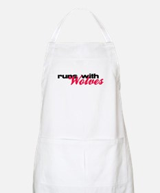 Runs With Wolves BBQ Apron