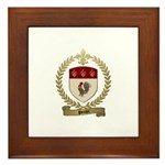 POULET Family Crest Framed Tile