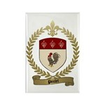 POULET Family Crest Rectangle Magnet