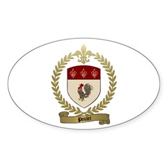 POULET Family Crest Oval Decal